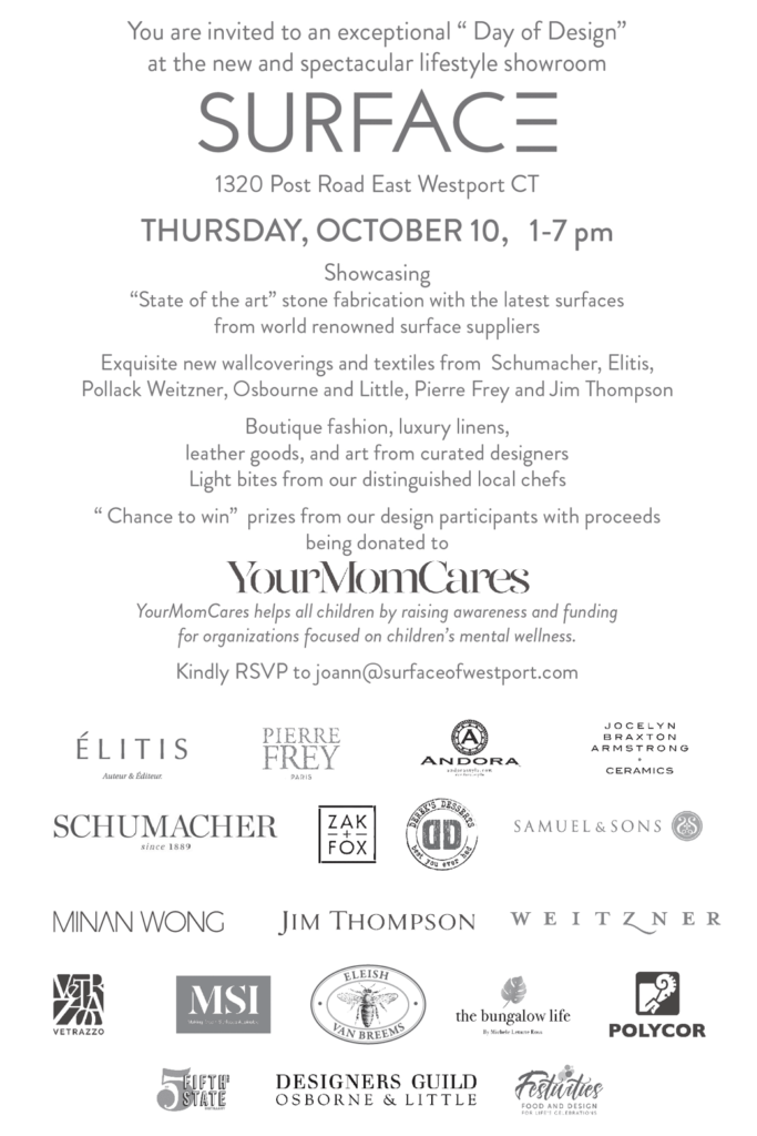 Day of Design at Surface in Westport Oct. 10, 2019